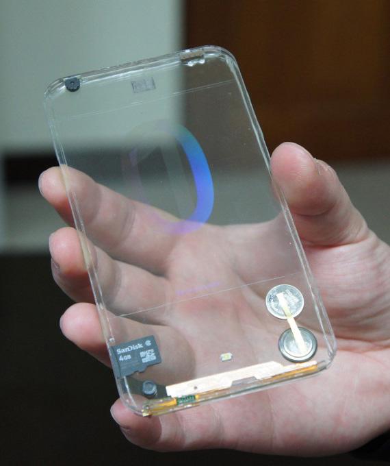 polytron transparent smartphone