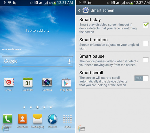 Samsung Galaxy S IV screenshots