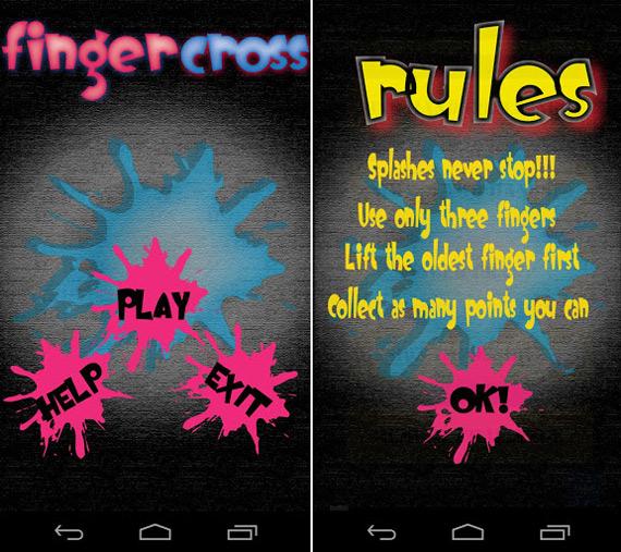 Fingercross, Εφαρμογή για Android συσκευές