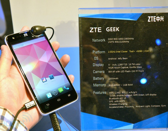 ZTE Geek Intel inside