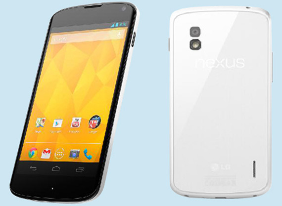 LG Nexus 4 white color