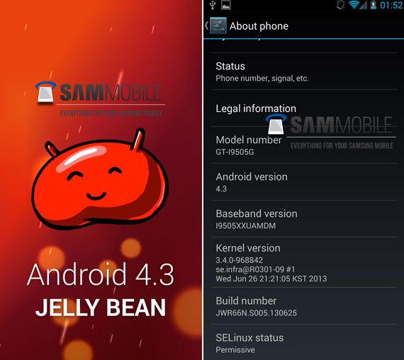 Samsung Galaxy S4 Google Play edition με Android 4.3 Jelly Bean