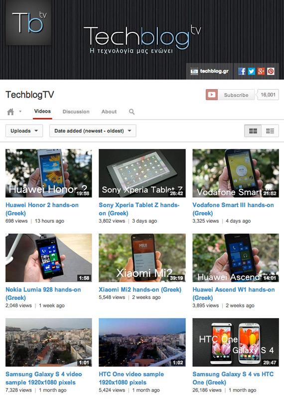 TechblogTV on YouTube