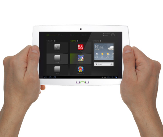 UNU gaming Android tablet
