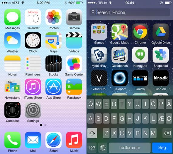 iOS 7 screenshot official