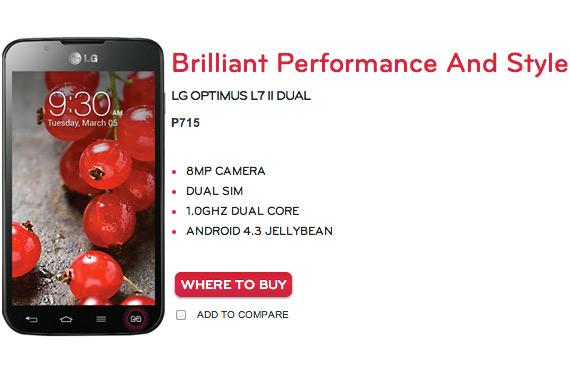 LG Optimus L7 II Dual Android 4.3