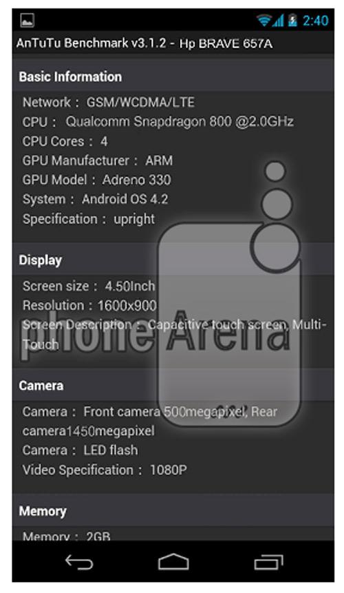 HP Brave smartphone