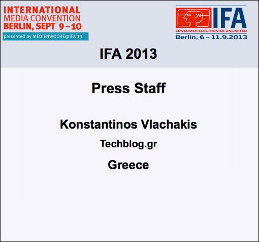 IFA Press 2013 Techblog