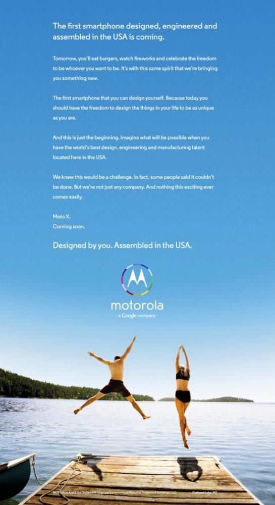Motorola Moto X Made in USA