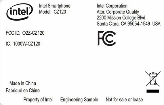 Intel CZ120, Πληροφορίες για νέο smartphone