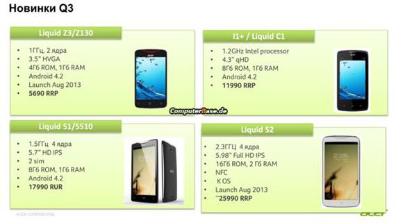Acer Liquid S2, Ετοιμάζει νέο phablet;