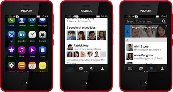 Nokia Asha, Παίρνουν εφαρμογή LinkedIn
