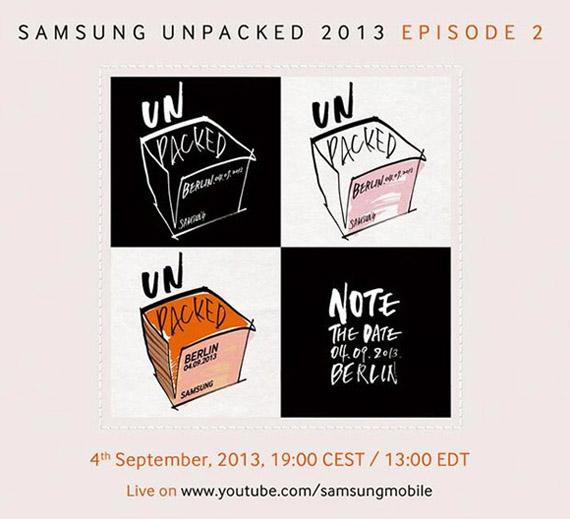Samsung Unpacked, Στις 4 Σεπτεμβρίου με πλήρη επισημότητα
