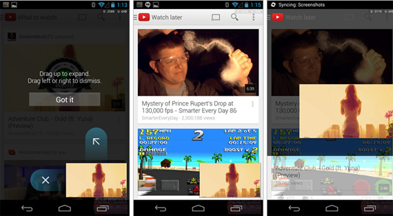 YouTube for Android, Αναβάθμιση με mini player