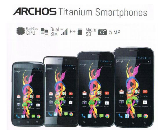 Archos Titanium series smartphones