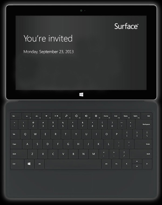 Microsoft Surface, Επίσημη παρουσίαση στις 23 Σεπτεμβρίου