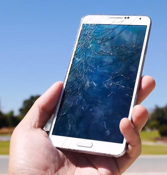Samsung Galaxy Note 3 drop test