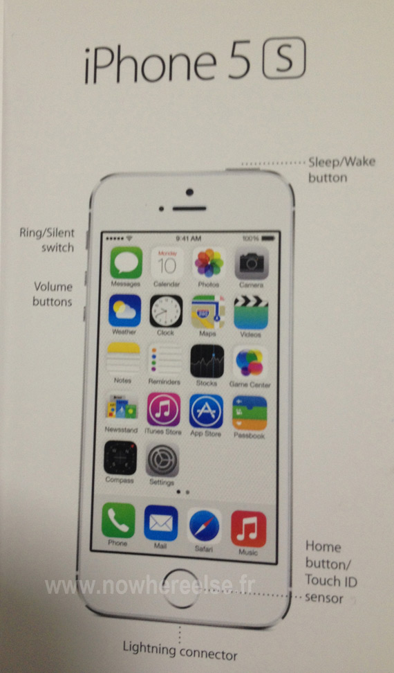 iPhone 5S alleged