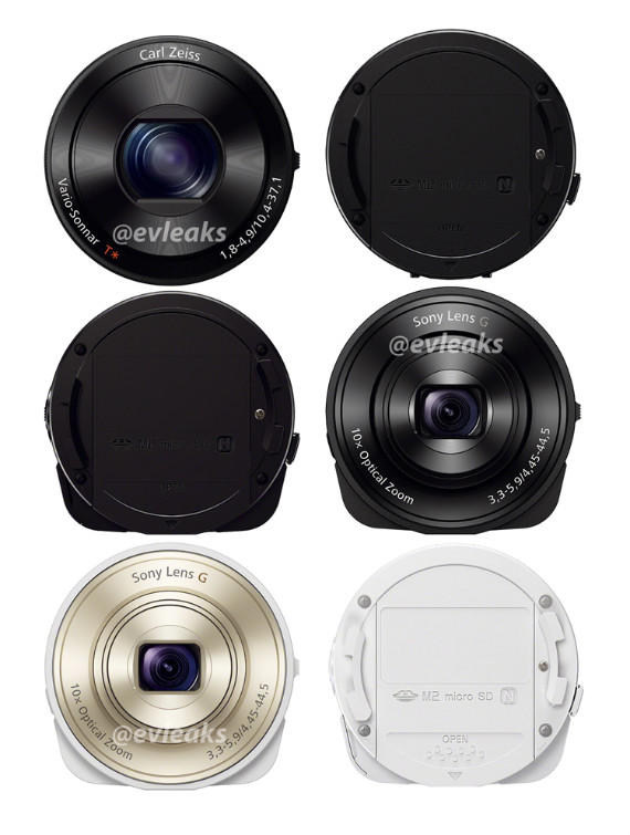 DSC-QX10 και QX100, Νέα στοιχεία για τους φακούς Sony