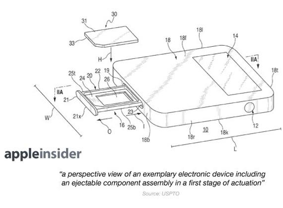 Apple magnetic sim tray patent