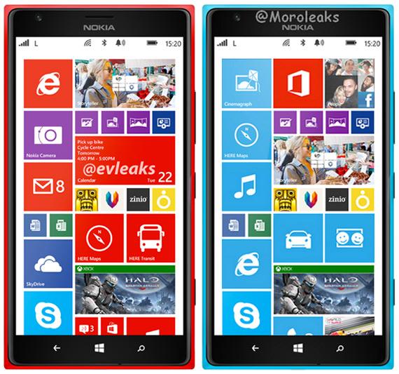 Nokia Lumia 1520 cyan red