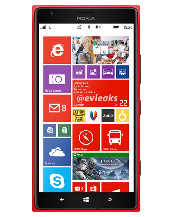 Nokia 1520, Διαρροή τεχνικών χαρακτηριστικών