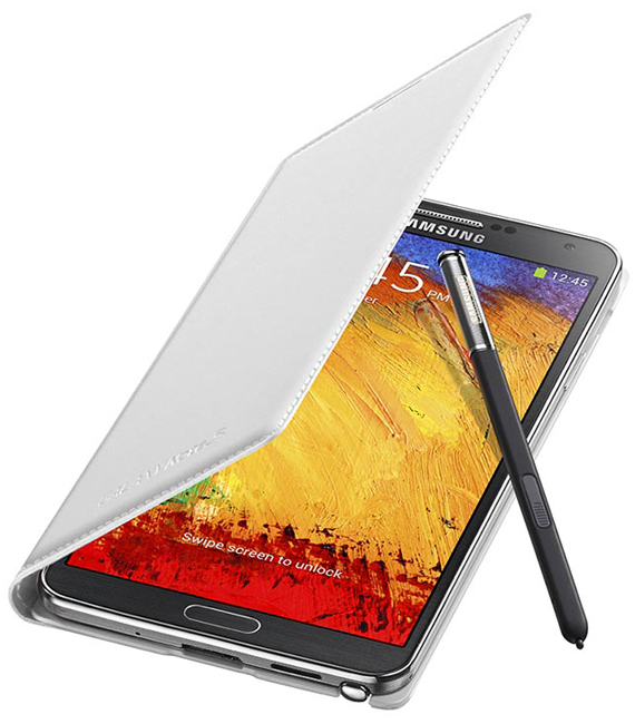 Samsung Galaxy Note 3 with white cover