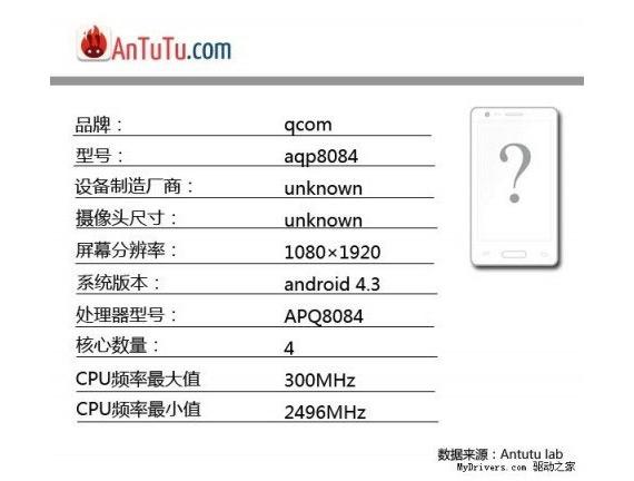 antutu Snapdragon 800 APQ8084