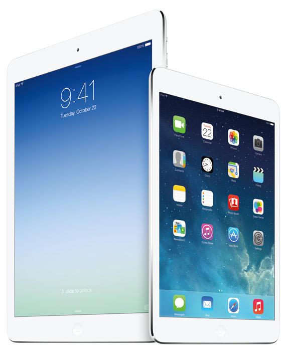 iPad Air and iPad Mini Retina