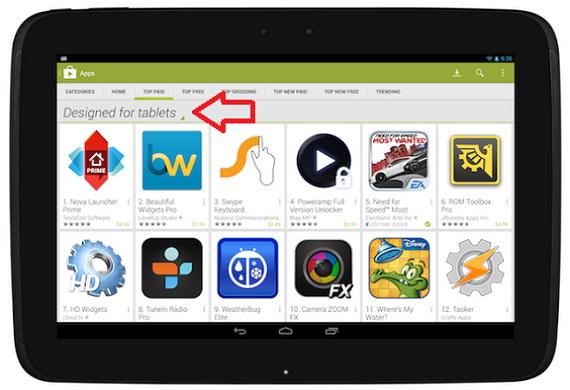 Google Play Tablets