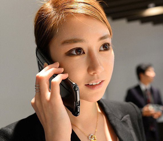 LG G Flex Korean girl