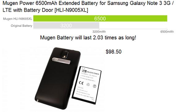 Mugen 6500mAh Note 3