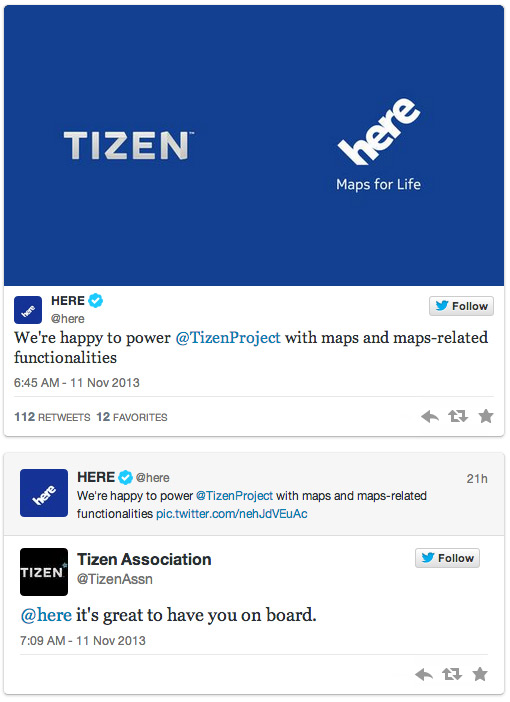 Nokia Here and Tizen OS