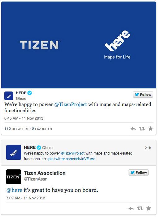 Nokia Here and Tizen OS