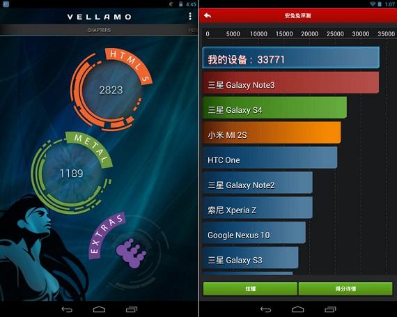 Nvidia Tegra Note 7 benchmark