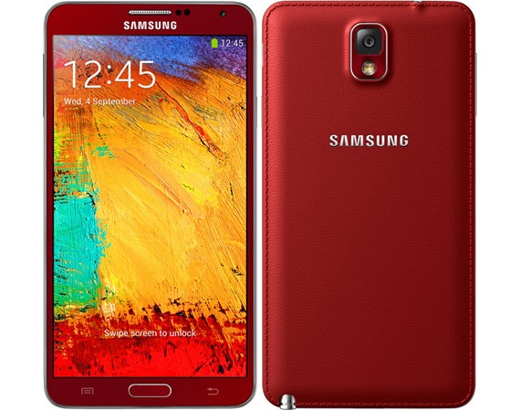 Samsung Galaxy Note 3 Red