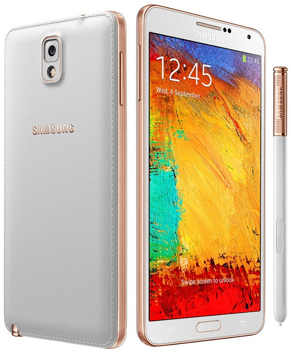 Samsung Galaxy Note 3 White Gold
