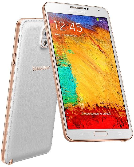 Samsung Galaxy Note 3 White Gold