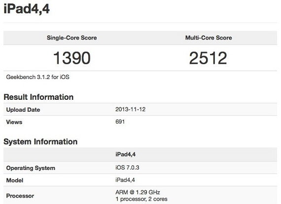 iPad mini Retina Geekbench