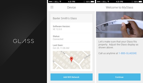 Google Glass MyGlass app