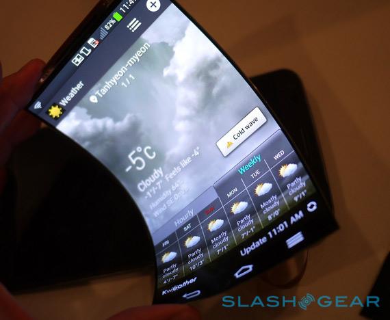 LG G Flex flexible display