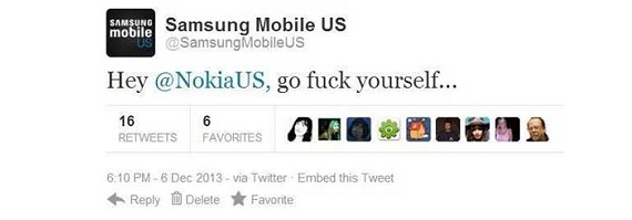Nokia Samsung Twitter Dogfight