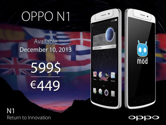 OPPO N1 Europe 449 euro