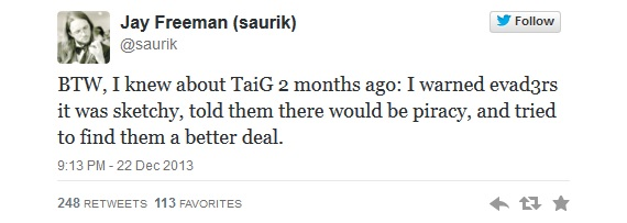 Saurik tweet