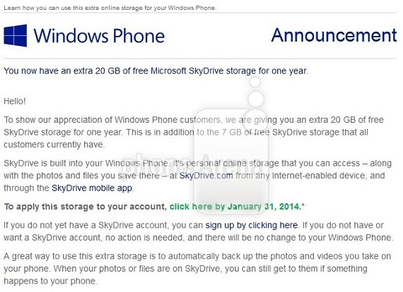 Skydrive 20GB