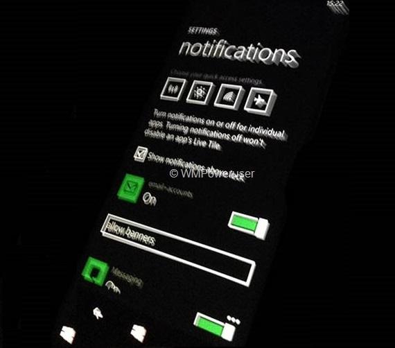 Windows Phone 8.1 Notifications Settings