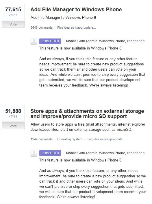 Windows Phone Improvements