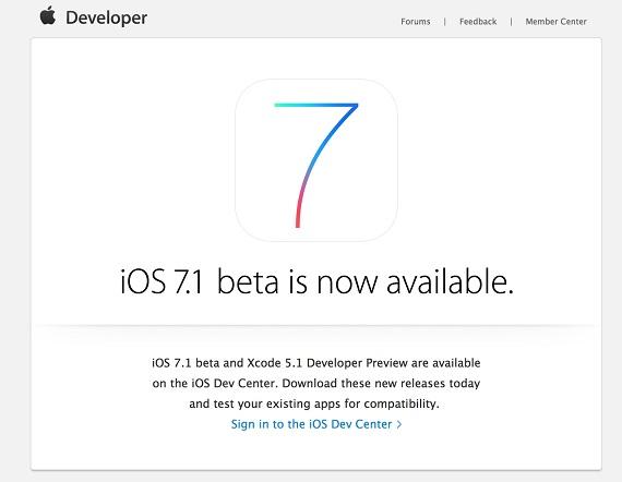 iOS 7.1 beta
