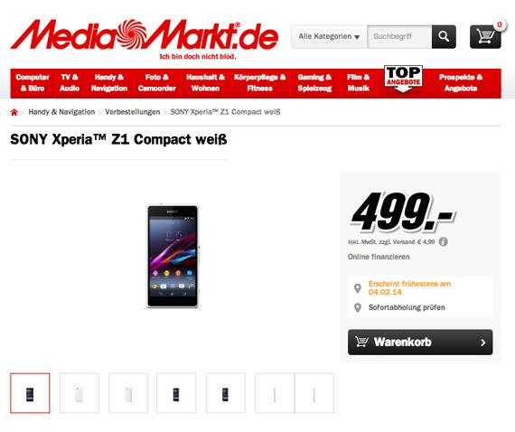 MediaMarkt Sony Xperia Z1 Compact