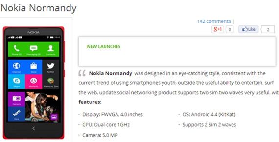 Nokia Normandy vietnam retailer